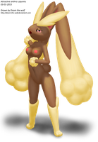 Attractive anthro Lopunny by Doom-the-wolf
