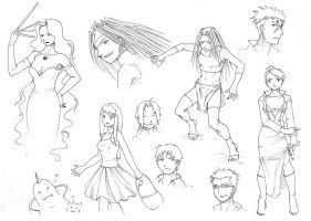 FMA Sketches by Sia-chan