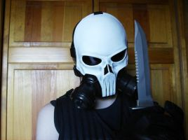 Punisher skull gas mask by DarkAsylumxxx