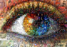 Fantastic Art Eye Mosaic by Cornejo-Sanchez