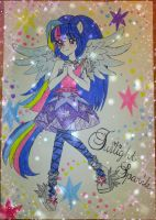 Rainbow Rock - Twilight Sparkle (White ver.) by vivian274
