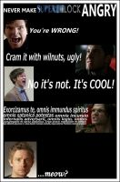 Angry Superwholock by classicbluebell