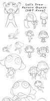 Keroro Pose Compilation by Willowbranwen