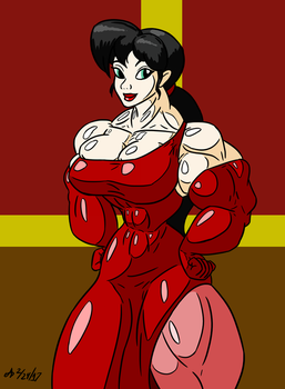 Buff Red Dress by ArchangelDreadnought