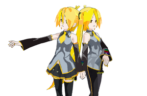 Neru x Nero Recolored From MMD by MMDCousins