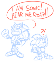 Sonic Funny Sketches by JamesmanTheRegenold