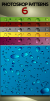 Water Drop Photoshop Patterns by jqsdigital