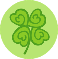 Lucky squiggle clover by Falcfire
