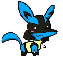 Chibi Lucario by DarkShinyCharizard