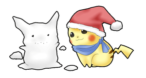 Pika Christmas by MokonaTenshi