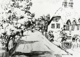 The Traditional House drawing study by GraceDoragon