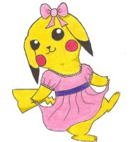 girl pikachu by firedragon47