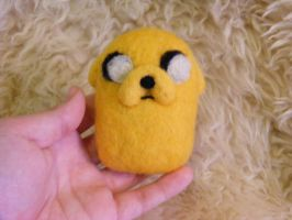 SOLD Needle Felted Jake the Dog by CVDart1990