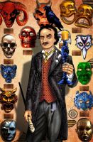 Edgar Allen Poe from Modern Marvels -Viktoriana. by WayneReinagel