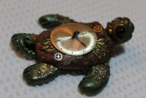 Steampunk Turtle by chromegoddess