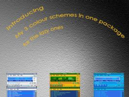 3 Schemes for WinAmp Modern by And1945