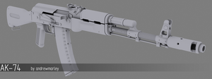 AK-74 by andrewmarley