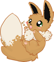 LOOK AT MY PAWS :Eevee: by AppleDew