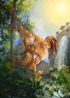 Tarzan Illustration For Sketch_Dailies by webion