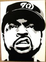 Ice Cube Stenciled Canvas by CRONENZ