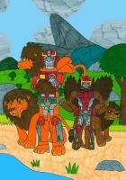 Two Rodimus with Lion Modes by MCsaurus