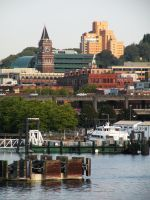 King St. Station and PAC MED from Elliott Bay by WillFactorMedia