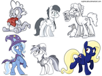 MLP Commission and Sketch Winners by sophiecabra