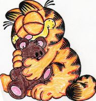 Garfield And Pookie by AnnieSmith