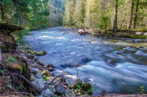 Twin falls lower fork of the snowqualmie river by Studio5Graphics