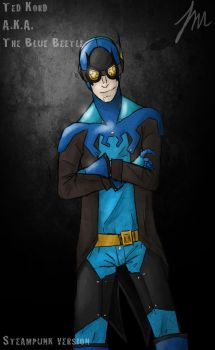 Steampunk Blue Beetle by Autumn-Wolfe