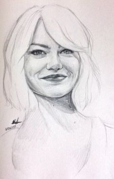 Emma Stone / Sketch by theclumsyandshy