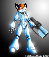 Fox in shiny armour by s0lar1x