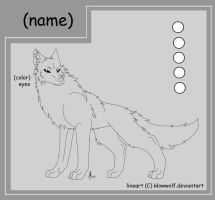 Free Wolf Lineart by Leeomon