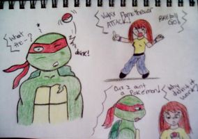 Raph isn't a Pokemon by TMNTbyEllSmyth