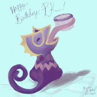 Purplekecleon's Birthday by karookachoo