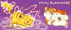 pika vs hamutaro by whisperpntr