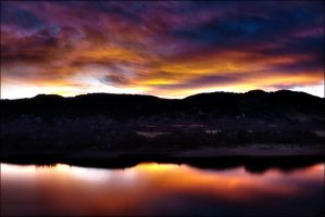 Sunset Reservoir HDR by TheSiege440