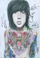 Oliver Sykes Signed 1 by for3veryours