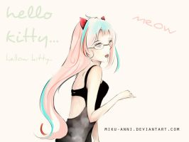 hellow~kitty by miku-anni