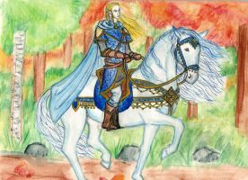 Glorfindel and Asfaloth by Theophilia