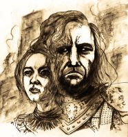 ARYA AND THE HOUND... by BlueMillenium