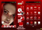 Red GO Launcher EX theme by 96design