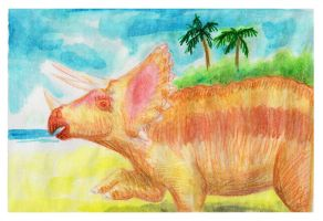 Triceratops by Rufina-Tomoyo