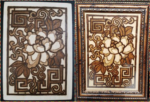 Woodburning - Stained Glass Rose by Stepher17