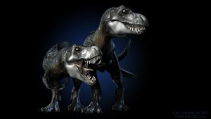 Tyrannosaurs by joel3d
