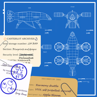 Concept design: Harmony VTOL shuttle by TwilightIsMagic