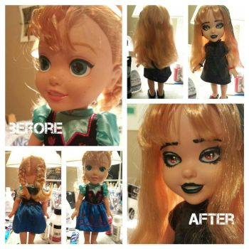 Repainted Anna Doll by haunted72194