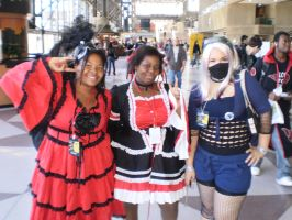 Gothic Lolitas and SNJ Kakashi by pikaman206