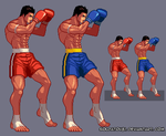 """Muay Thai king"" sprite by soldatov81"