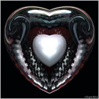 Colored White Heart by Brigitte-Fredensborg